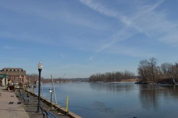 le long de la rivière Hudson à Kingston